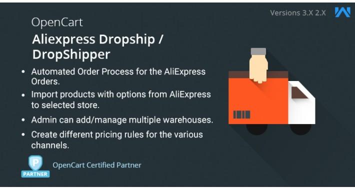 Opencart Aliexpress Dropship / DropShipper