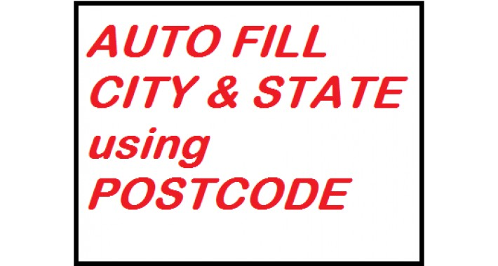 Autofill City & State Name with PostCode