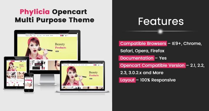Phylicia Opencart Multi Purpose Opencart Responsive Theme