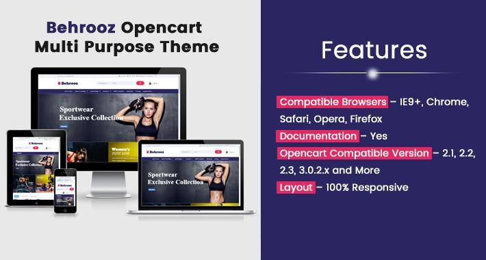 Behrooz Opencart Multi Purpose Opencart Responsive Theme