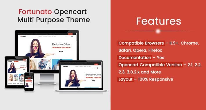 Fortunato Opencart Multi Purpose Opencart Responsive Theme