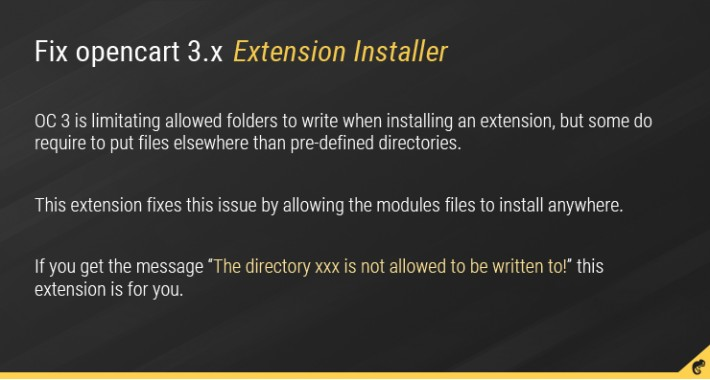 Fix OC 3.x Extension Installer