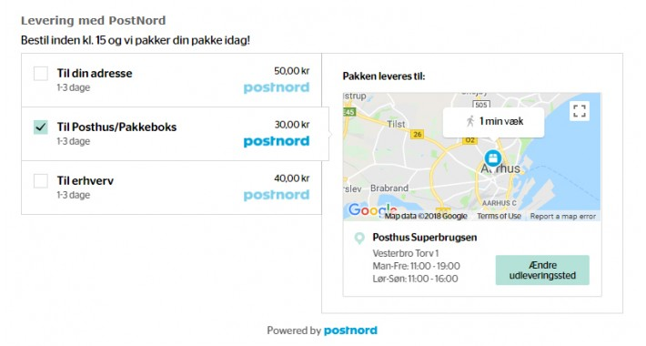 PostNord Delivery Checkout