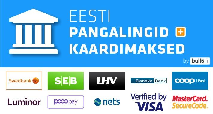 Estonian Banklinks Plus / Eesti pangalingid + kaardimaksed