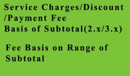 Service Charges Custom Discount Custom Fee on Su..