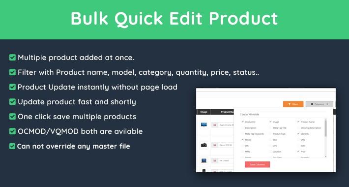 Bulk Quick Edit Products