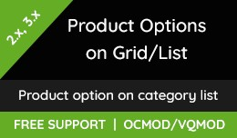 Product options ON  GRID/LIST