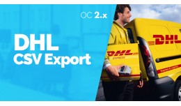 DHL CSV Export - Export objednávok / Export ord..