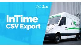InTime CSV Export - Export objednávok -  OC2.x