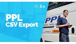 PPL CSV Export - Export objednávok -  OC2.x