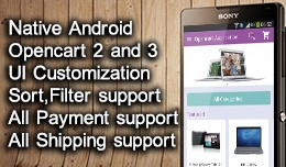 Android Native Application For Opencart 2 and 3
