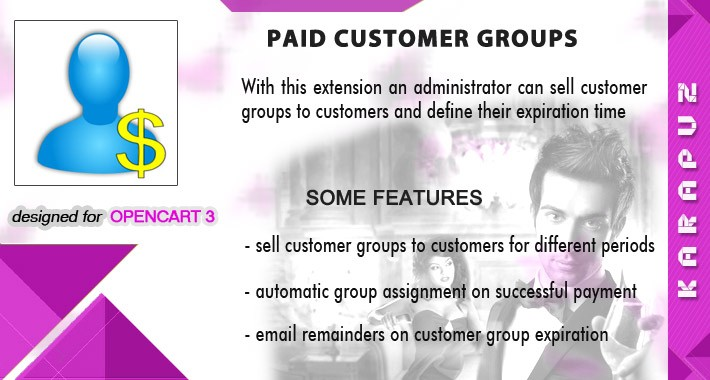 Paid Customer Groups (for Opencart 3)