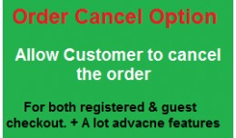 Order Cancel Option for customer :