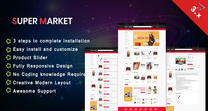 Super Market OpenCart 3.X Website Theme