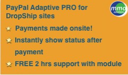 Paypal Adaptive PRO  -- designed for Dropship si..