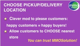 Choose PICKUP/DELIVERY Store Location PRO
