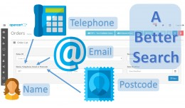 A Better Order Search - Postcode, Telephone, Ema..
