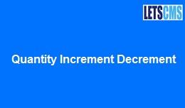 Quantity Increment Decrement