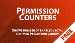 Permission Counters - displays number of enabled..