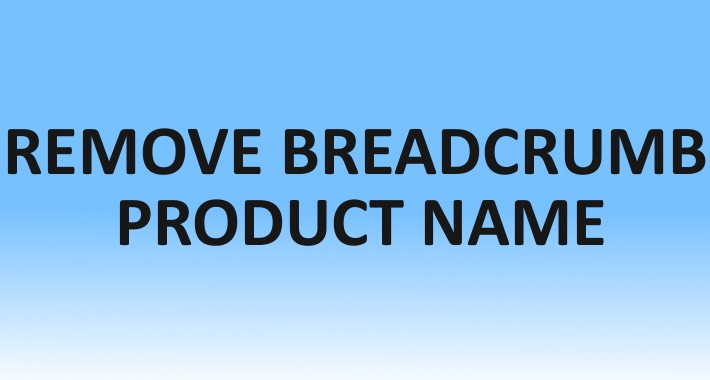 Remove Breadcrumb Product Name