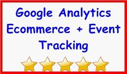 Google Analytics Ecommerce + Event Tracking