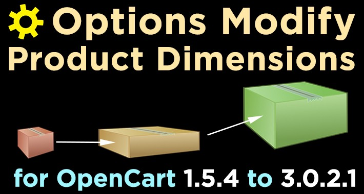 Options Modify Product Dimensions