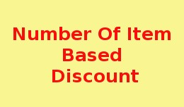 Number of Item Based Discount