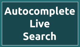 Advanced Autocomplete Live Search