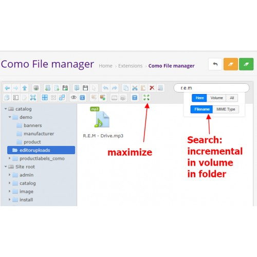 OpenCart - File Manager Professional
