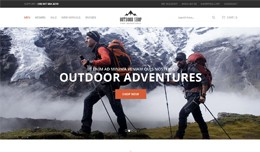 Outdoor shop Opencart Responsive Theme