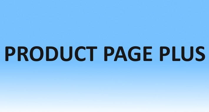 Product Page Plus