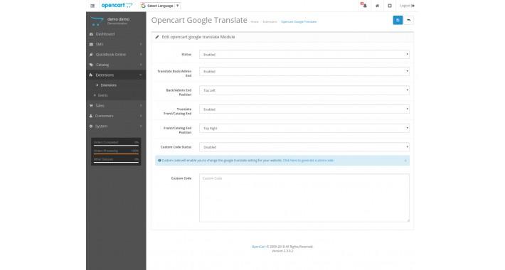 Opencart Google Translate