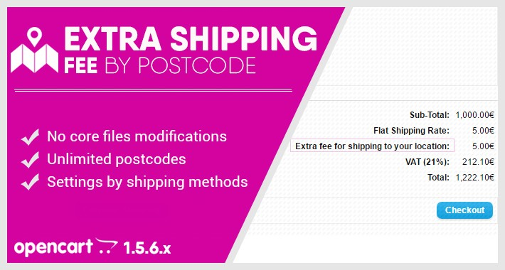 Extra shipping fee by postcode