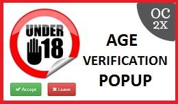 Age Verification Popup OC2x