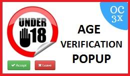 Age Verification Popup OC3x
