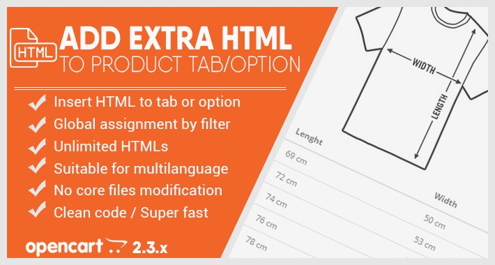 Extra TABs / HTML text in product page (Size table / FAQ / ...)