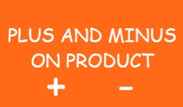 Plus and Minus Buttons on Product Page