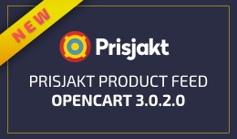 Prisjakt Product Feed (XML) OC 3.x and 2.3.x
