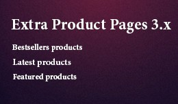 Extra Product Pages 3.x