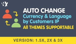 Auto Change - Currency & Language by IP