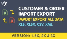 Customer & Order Import Export - 1.5x, 2x &a..