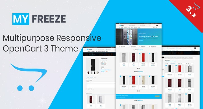 Freeze opencart 3.x Responsive Theme (Free Installation)