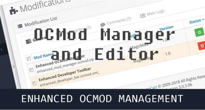 OCMod Manager & Editor