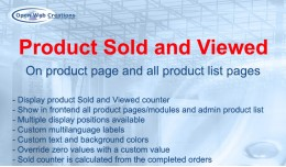 Product Sold and Viewed
