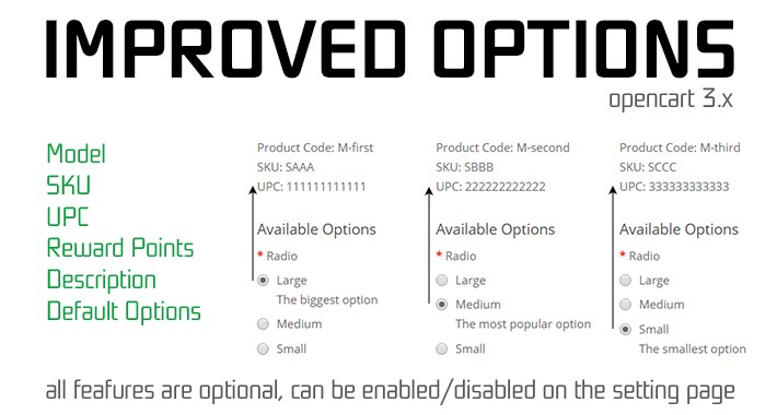 Improved Options 3