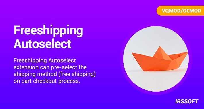 Freeshipping Autoselect(VQMOD/OCMOD)