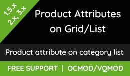 Product Attributes  on GRID/LIST