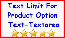 Text Limit For Product Option Text-Textarea