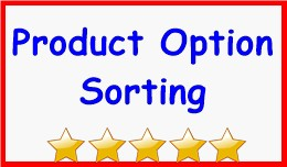 Product Option Sorting