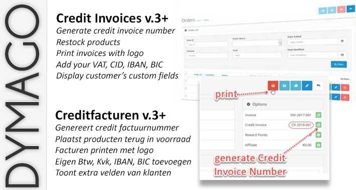 Credit Invoice v3 - Creditfactuur v3